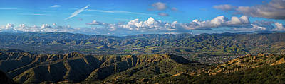 Photograph - Santa Susana Mountains Panorama by Lynn Bauer