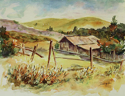 Painting - Santa Teresa County Park California Landscape 4 by Xueling Zou