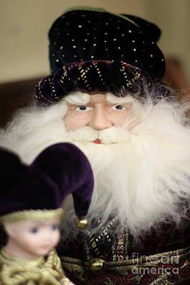 Santa Tries His Ventriloquist Act Art Print