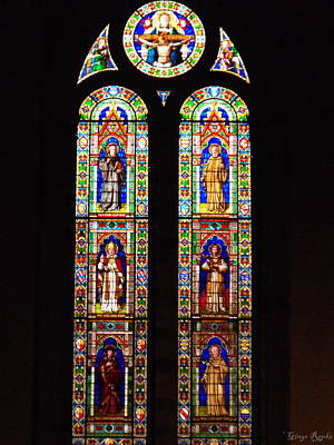 Stained Glass 3 Photograph - Santa Trinita Stained Glass by Ginger Repke