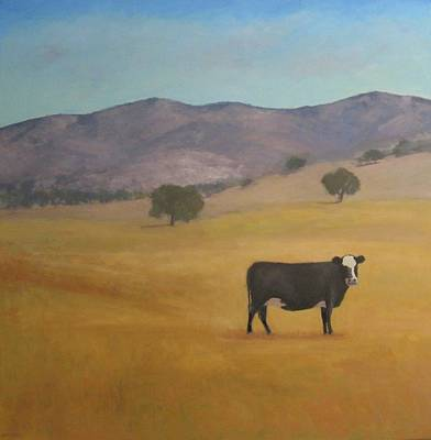 Painting - Santa Ynez Cow Series Three by Jennifer Boswell