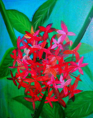 Santan Flower Art Print