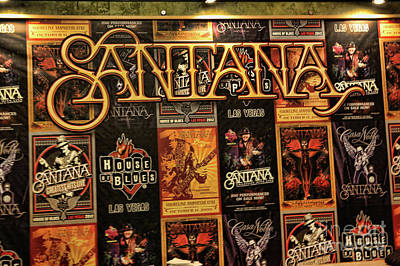 Chuck Kuhn Photograph - Santana House Of Blues by Chuck Kuhn