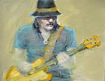 Grammy Winners Painting - Santana by September McGee