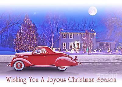Photograph - Santas 1937 Zephyr by Ed Dooley