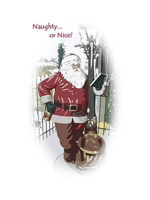 Photograph - Santa's Checklist by Ellen O'Reilly