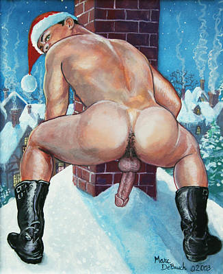 Painting - Santa's Chimney by Marc  DeBauch