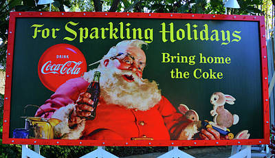 Photograph - Santa's Coke Christmas by David Lee Thompson