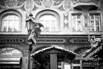 Photograph - Santa's Coming In Munich by John Rizzuto