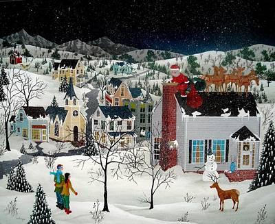 Santa Claus Painting - Santa's Coming by Robert  Logrippo