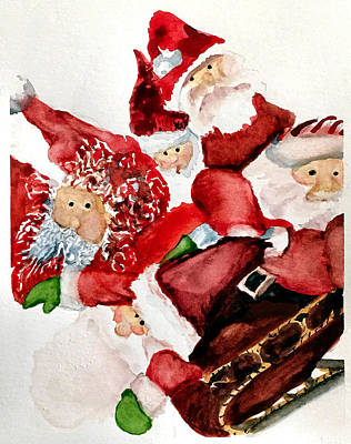 Photograph - Santas by Dana Patterson