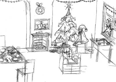Matthew Joseph Williams Drawing - Santas Delivery by Artists With Autism Inc