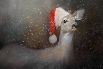 Painting - Santas Helpers by Jai Johnson