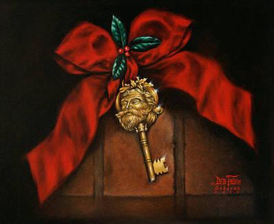 Santa's Key Art Print by Debi Frueh