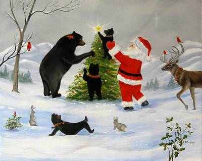 Painting - Santa's Little Helper by RJ McNall