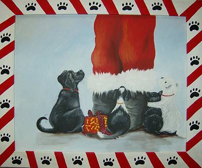 Painting - Santa's Little Helpers by Debra Campbell