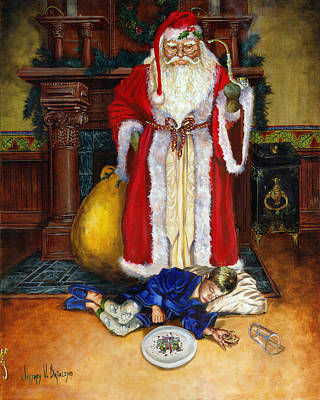 Painting - Santas Littlest Helper by Jeff Brimley
