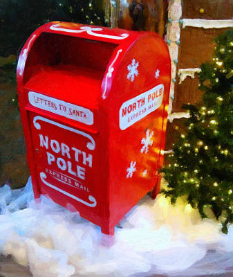 Mail Box Digital Art - Santa's Mail Box by Chris Flees