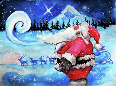 Santa's Moment Art Print