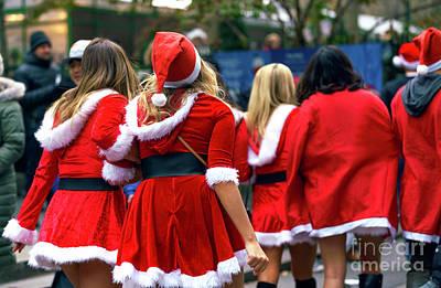 Photograph - Santa's Naughty Helpers by John Rizzuto