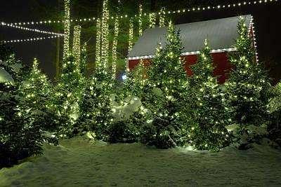 Photograph - Santa's Reindeer Barn by Rick Berk