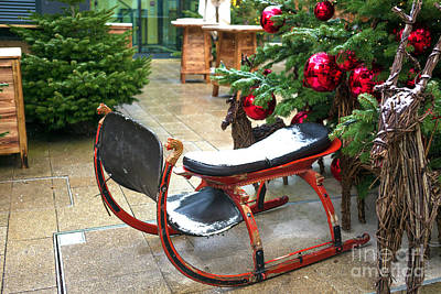 Photograph - Santa's Sled In Salzburg by John Rizzuto