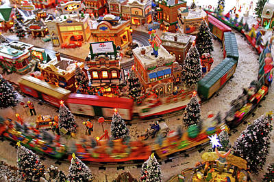 Photograph - Santas Train by Bluemoonistic Images