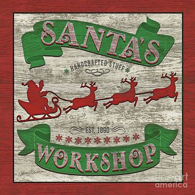 Digital Art - Santa's Workshop by Jean Plout