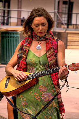 Musicians Royalty Free Images - Sante Fe Musician Royalty-Free Image by David Patterson