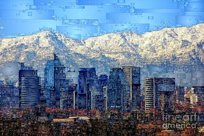 Digital Art - Santiago De Chile, Chile by Rafael Salazar