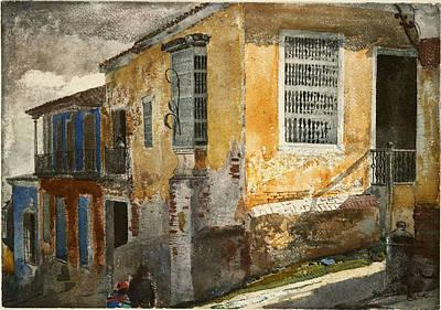 Winslow Homer Painting - Santiago De Cuba. Street Scene by Winslow Homer