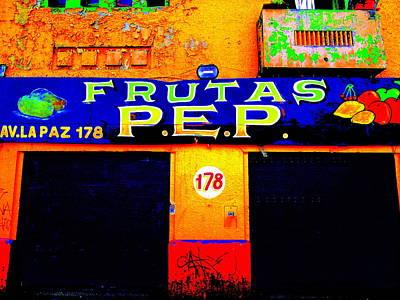 Valparaiso Photograph - Santiago Funky Fruit Shop by Funkpix Photo Hunter