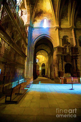 Photograph - Santiago Interior Cathedral by Rick Bragan