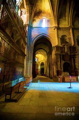 Photograph - Santiago Interior Cathedral by Rick Bragan