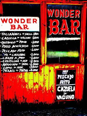 Valparaiso Photograph - Santiago's Wonder Bar  by Funkpix Photo Hunter