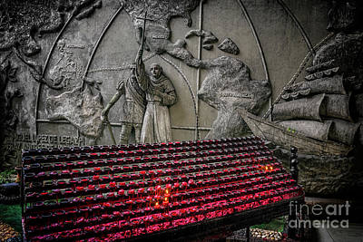 Photograph - Santo Nino Candles by Adrian Evans