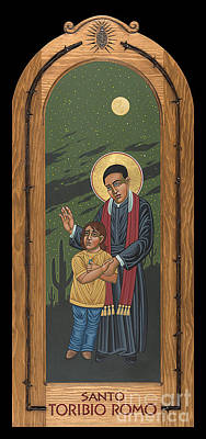 Painting - Santo Toribio Romo Patron Of Immigrant 277 by William Hart McNichols
