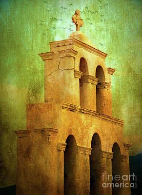 Santorini Arches And Cross Art Print by KaFra Art