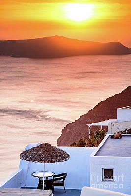 Photograph - Santorini At Sunset - Santorini, Greece by Global Light Photography - Nicole Leffer