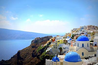 Photograph - Santorini Blues by Shelia Kempf