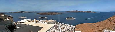 Photograph - Santorini Caldera by S Paul Sahm