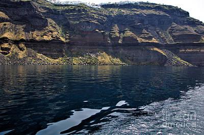 Photograph - Santorini Cliffs by Jeremy Hayden