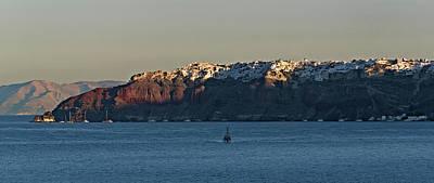 Photograph - Santorini Coast by S Paul Sahm
