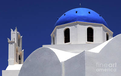 Art Print featuring the photograph Santorini Greece Architectual Line 2 by Bob Christopher