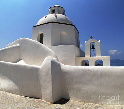 Art Print featuring the photograph Santorini Greece Architectual Line 4 by Bob Christopher