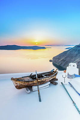 Photograph - Santorini - Greece by Stavros Argyropoulos