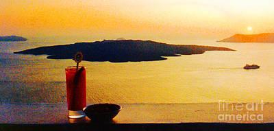 Santorini Greece Sunset Original