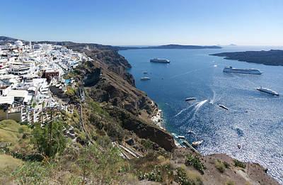 Photograph - Santorini Harbour by S Paul Sahm