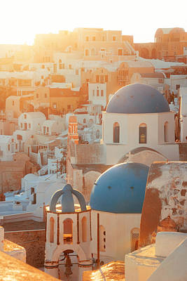 Photograph - Santorini Island Church by Songquan Deng