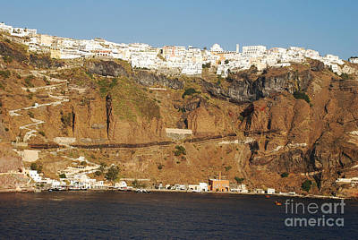 Santorini Photograph - Oia Santorini Greece Island Harbor by Just Eclectic